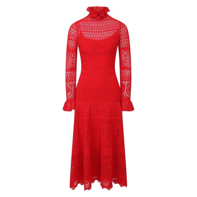 Платье-миди Alexander McQueen