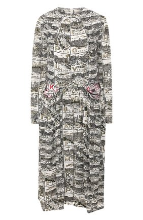 Женское платье из вискозы BY MALENE BIRGER хаки цвета, арт. Q67956002/FAR0A   Фото 1