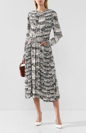 Женское платье из вискозы BY MALENE BIRGER хаки цвета, арт. Q67956002/FAR0A   Фото 2
