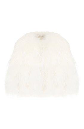 Женская меховая накидка YVES SALOMON белого цвета, арт. 20EYV31155FRXX | Фото 1