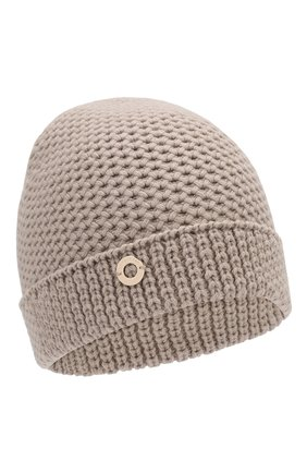 Женский кашемировая шапка rougemont LORO PIANA бежевого цвета, арт. FAE1298 | Фото 1