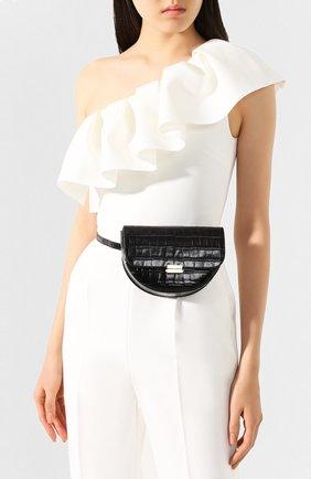 Женская сумка anna WANDLER черного цвета, арт. ANNA BELT BAG BIG CR0C0 | Фото 2