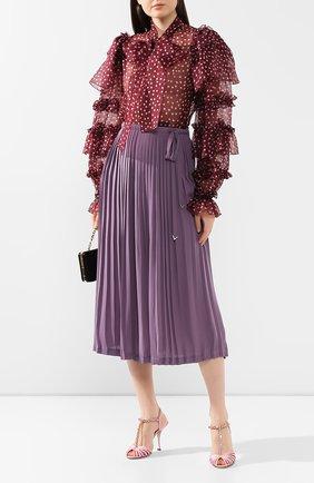Женские текстильные босоножки bette DOLCE & GABBANA розового цвета, арт. CR0963/A7630 | Фото 2