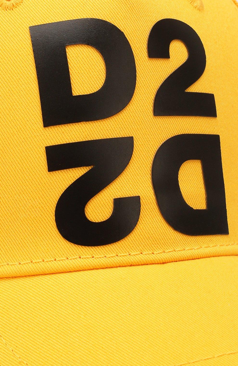 Мужской хлопковая бейсболка DSQUARED2 желтого цвета, арт. BCM0265 05C00001 | Фото 3