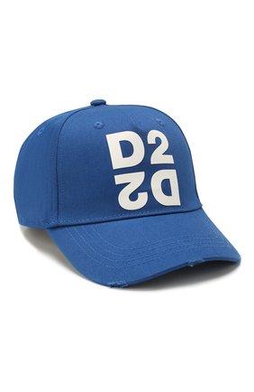 Мужской хлопковая бейсболка DSQUARED2 синего цвета, арт. BCM0265 05C00001 | Фото 1