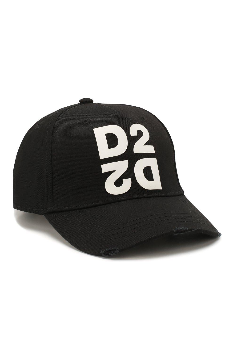 Мужской хлопковая бейсболка DSQUARED2 черного цвета, арт. BCM0265 05C00001 | Фото 1
