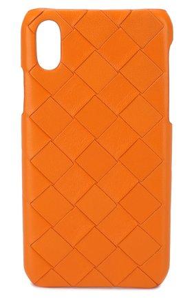Мужской чехол для iphone x/xs BOTTEGA VENETA оранжевого цвета, арт. 592060/VCPP2 | Фото 1