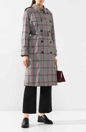 Женские кожаные оксфорды SANTONI черного цвета, арт. WUUS58669NERTGLYN01 | Фото 2