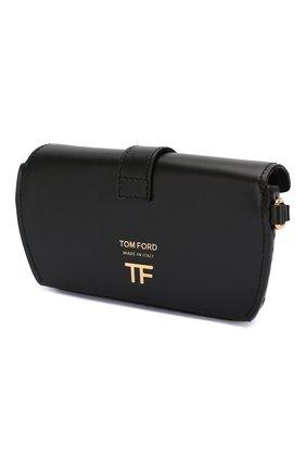 Женские кожаный футляр для очков TOM FORD черного цвета, арт. S0313T-ICL002 | Фото 2