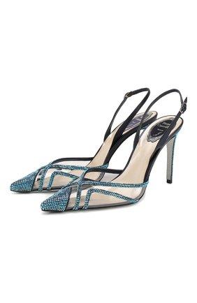 Женская туфли dania RENE CAOVILLA синего цвета, арт. C10417-100-VINAX626 | Фото 1