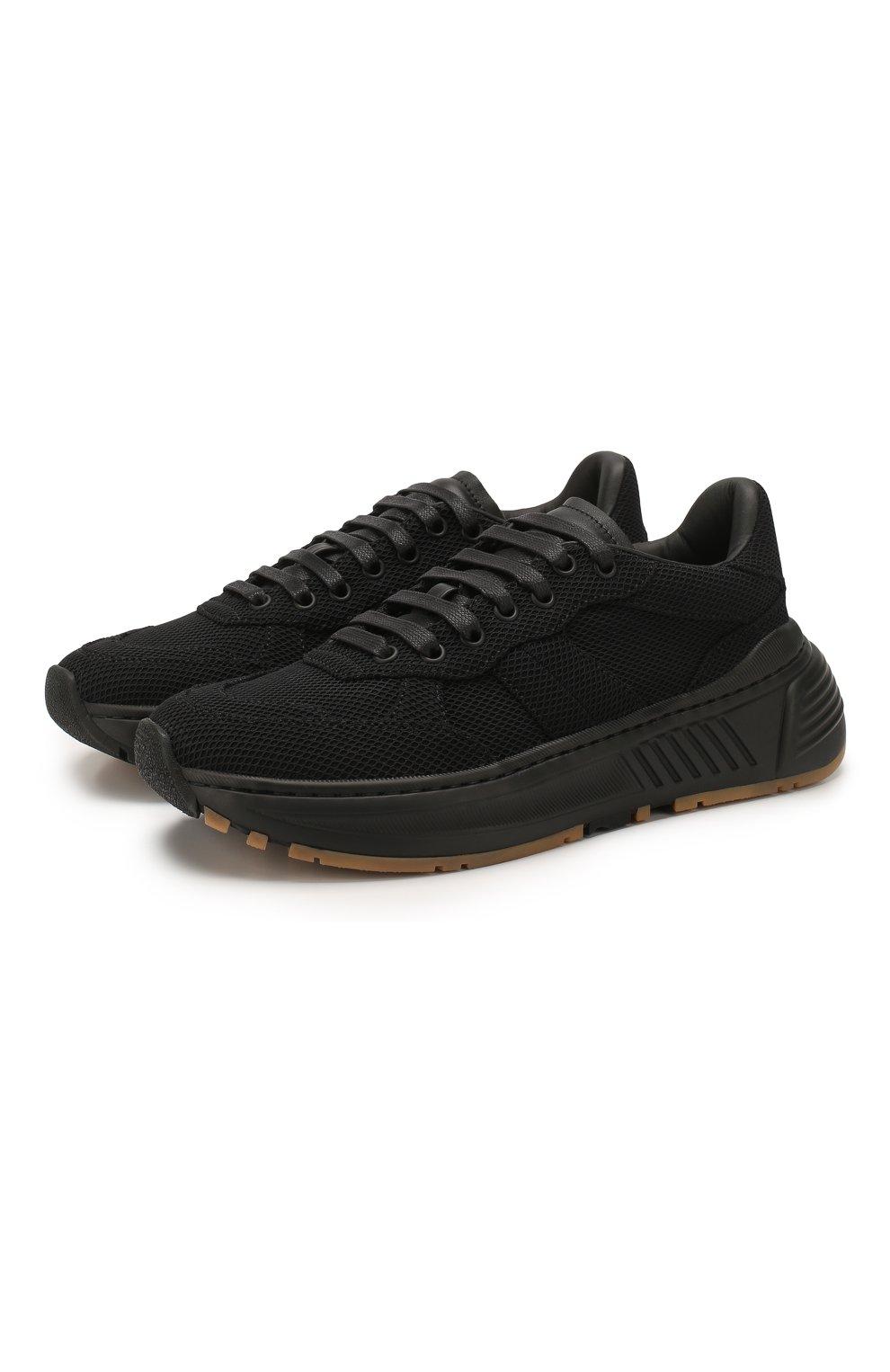 Женские комбинированные кроссовки speedster BOTTEGA VENETA черного цвета, арт. 608944/VBRZ1 | Фото 1