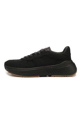 Женские комбинированные кроссовки speedster BOTTEGA VENETA черного цвета, арт. 608944/VBRZ1 | Фото 3
