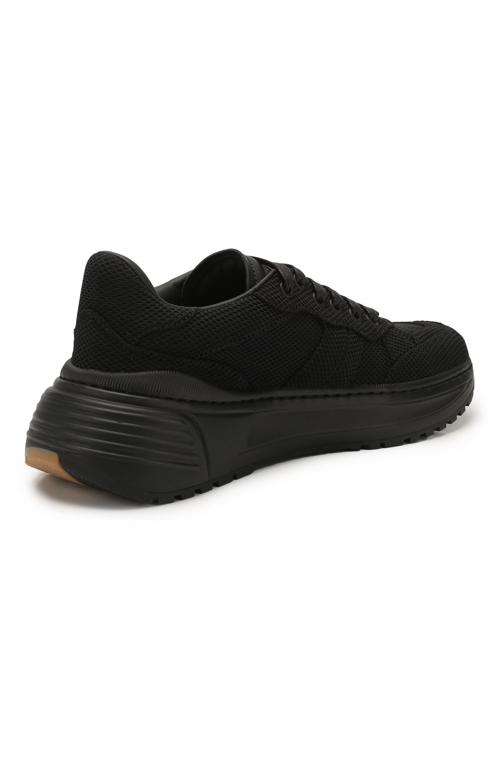 Женские комбинированные кроссовки speedster BOTTEGA VENETA черного цвета, арт. 608944/VBRZ1 | Фото 4