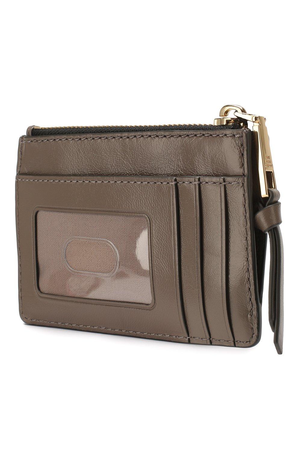 Женский кожаный футляр для кредитных карт MARC JACOBS (THE) коричневого цвета, арт. M0015865 | Фото 2