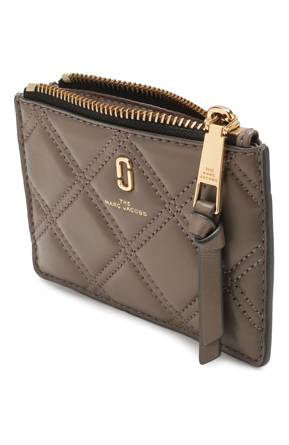 Женский кожаный футляр для кредитных карт MARC JACOBS (THE) коричневого цвета, арт. M0015865 | Фото 3