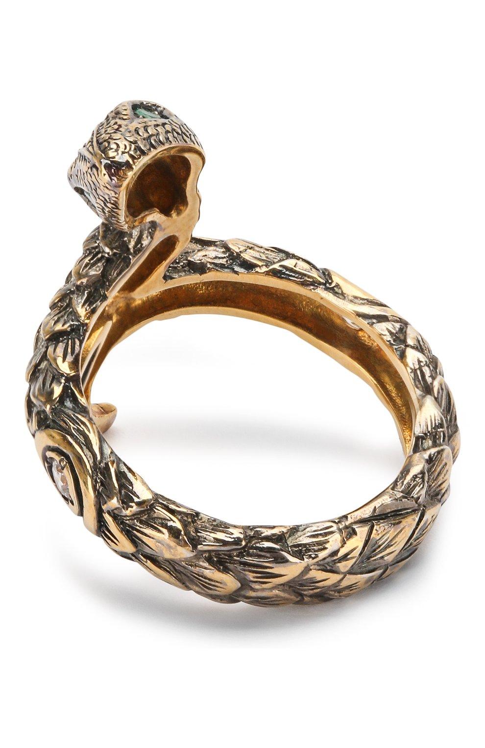 Женское кольцо one round snake QUEENSBEE золотого цвета, арт. 102008/6,10 | Фото 2