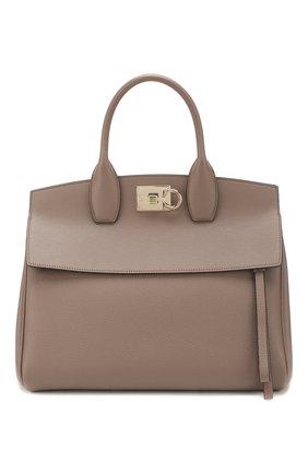 Женская сумка SALVATORE FERRAGAMO светло-коричневого цвета, арт. Z-0718295 | Фото 1