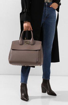 Женская сумка SALVATORE FERRAGAMO светло-коричневого цвета, арт. Z-0718295 | Фото 2