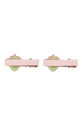 Детская комплект из 2-х заколок shiny strawberry JUNEFEE разноцветного цвета, арт. 6237   Фото 2