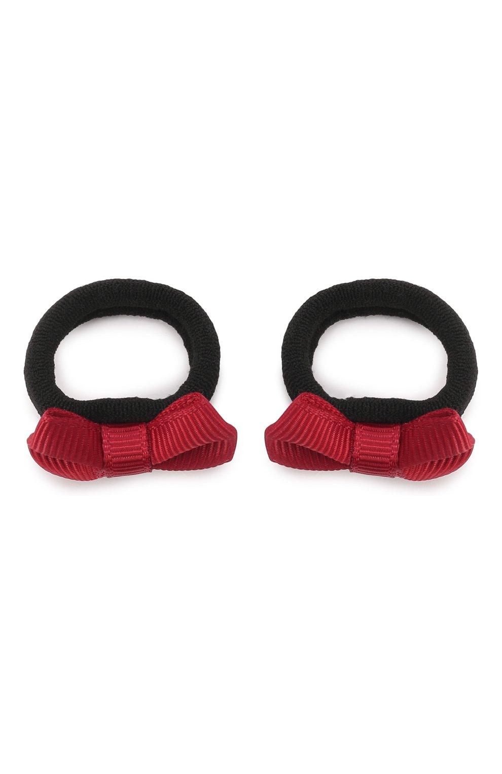 Детская комплект из 2-х резинок small bow JUNEFEE красного цвета, арт. 5704   Фото 1
