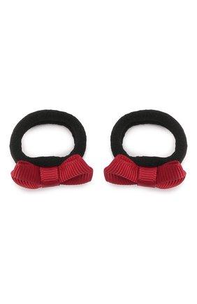 Детская комплект из 2-х резинок small bow JUNEFEE красного цвета, арт. 5704 | Фото 1