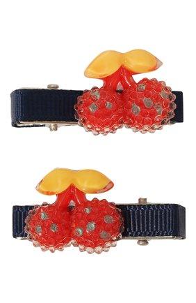 Детская комплект из 2-х заколок shiny cherry JUNEFEE разноцветного цвета, арт. 5890 | Фото 1