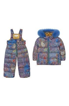 Комплект из пуховой куртки и комбинезона Кашмир | Фото №1