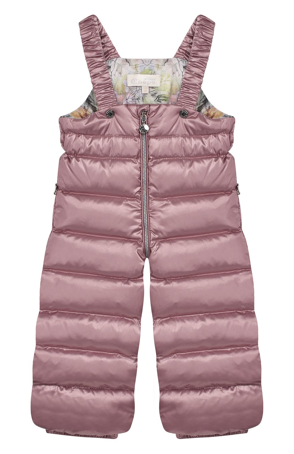 Детского комплект из пуховой куртки и комбинезона сиреневый сад CHEPE разноцветного цвета, арт. 392222 | Фото 2