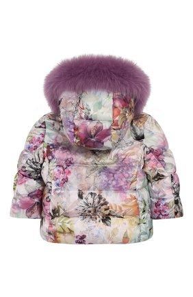 Детского комплект из пуховой куртки и комбинезона сиреневый сад CHEPE разноцветного цвета, арт. 392222 | Фото 5