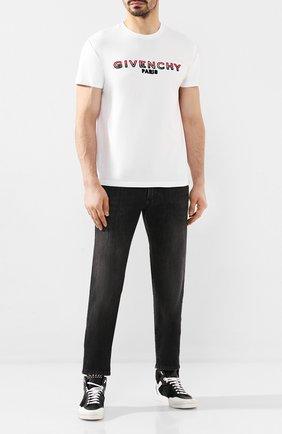 Мужские кожаные кеды PHILIPP PLEIN черного цвета, арт. S20S MSC2612 PTE003N | Фото 2