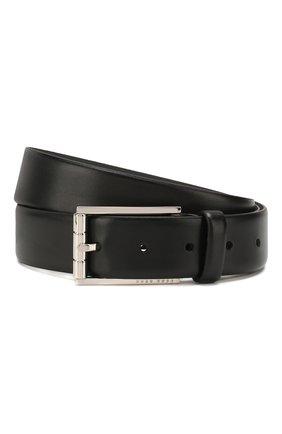 Мужской кожаный ремень BOSS черного цвета, арт. 50429994 | Фото 1