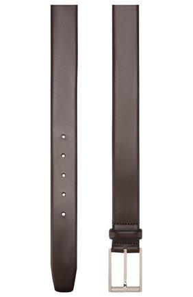 Мужской кожаный ремень BOSS темно-коричневого цвета, арт. 50429994 | Фото 2