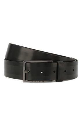 Мужской кожаный ремень BOSS черного цвета, арт. 50430143 | Фото 1