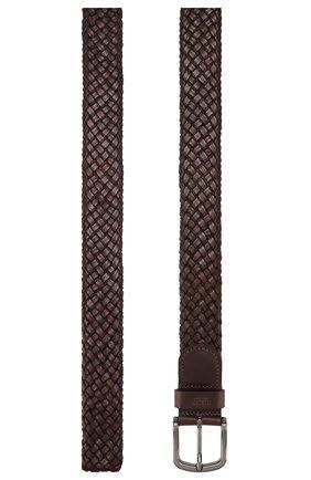 Мужской кожаный ремень BOSS коричневого цвета, арт. 50430043 | Фото 2