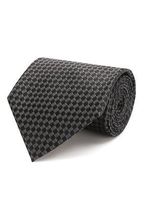 Мужской шелковый галстук TOM FORD черного цвета, арт. 7TF11/XTF | Фото 1