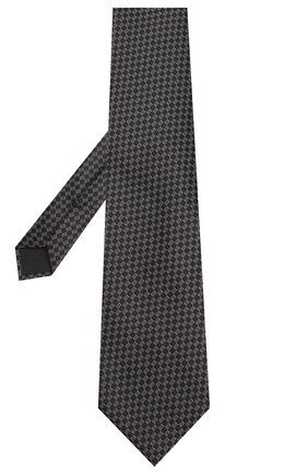 Мужской шелковый галстук TOM FORD черного цвета, арт. 7TF11/XTF | Фото 2