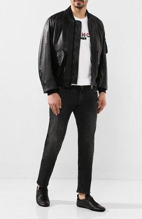 Мужские кожаные кеды king driver DOLCE & GABBANA черного цвета, арт. A20114/A8L47 | Фото 2