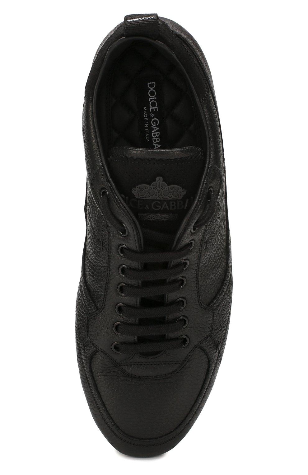 Мужские кожаные кеды king driver DOLCE & GABBANA черного цвета, арт. A20114/A8L47 | Фото 5