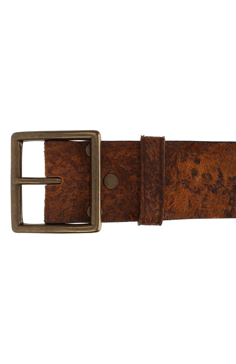 Мужской кожаный ремень RRL светло-коричневого цвета, арт. 417659376   Фото 3 (Случай: Повседневный)