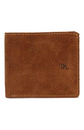 Мужской замшевый футляр для кредитных карт RRL светло-коричневого цвета, арт. 417687395 | Фото 1