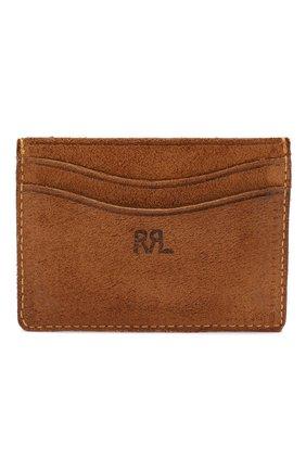 Мужской замшевый футляр для кредитных карт RRL светло-коричневого цвета, арт. 417702706 | Фото 1
