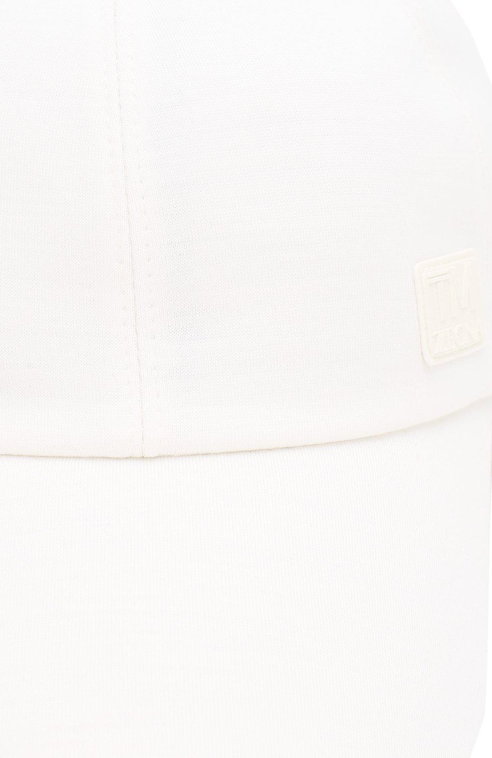Мужской шерстяная бейсболка Z ZEGNA белого цвета, арт. ZEI60/B7R | Фото 3