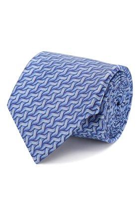 Мужской шелковый галстук ZILLI синего цвета, арт. 50541/TIES | Фото 1