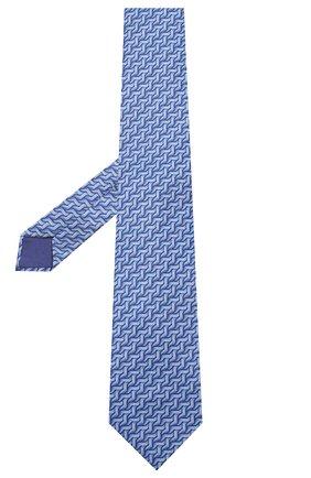 Мужской шелковый галстук ZILLI синего цвета, арт. 50541/TIES | Фото 2