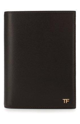 Мужская обложка для паспорта TOM FORD коричневого цвета, арт. Y0274T-LCL053 | Фото 1