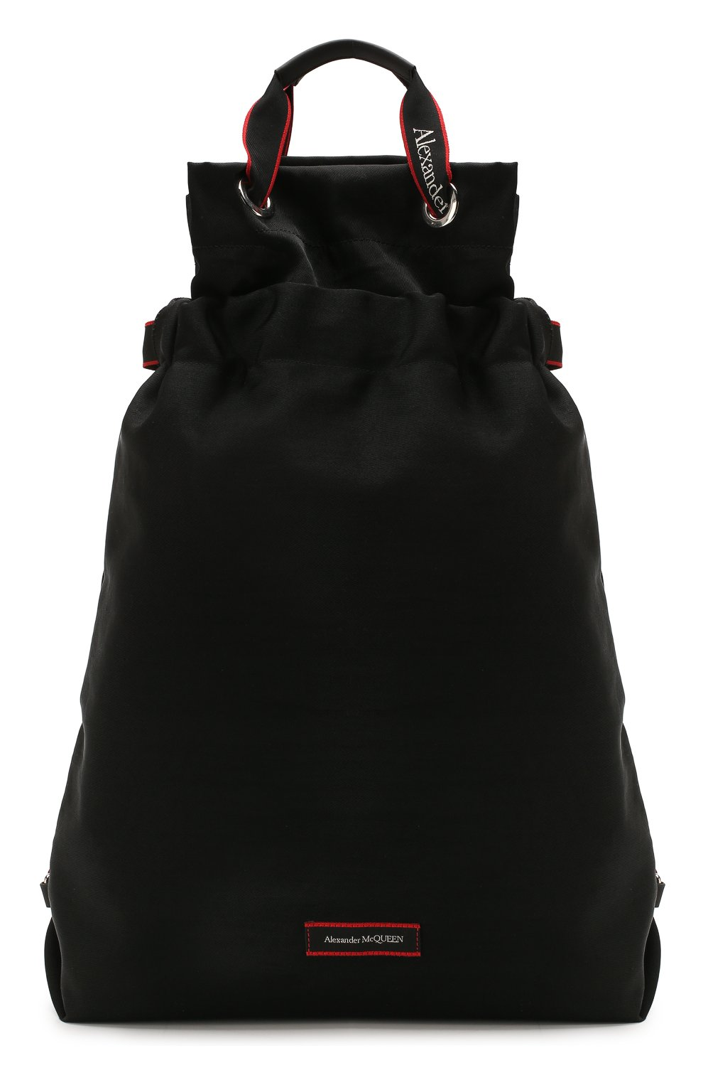Мужской текстильный рюкзак ALEXANDER MCQUEEN черного цвета, арт. 610673/HUP6N   Фото 1