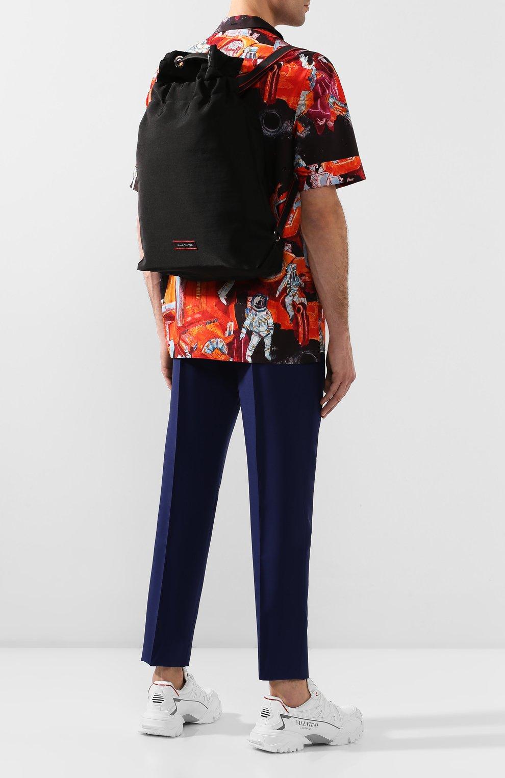 Мужской текстильный рюкзак ALEXANDER MCQUEEN черного цвета, арт. 610673/HUP6N   Фото 2