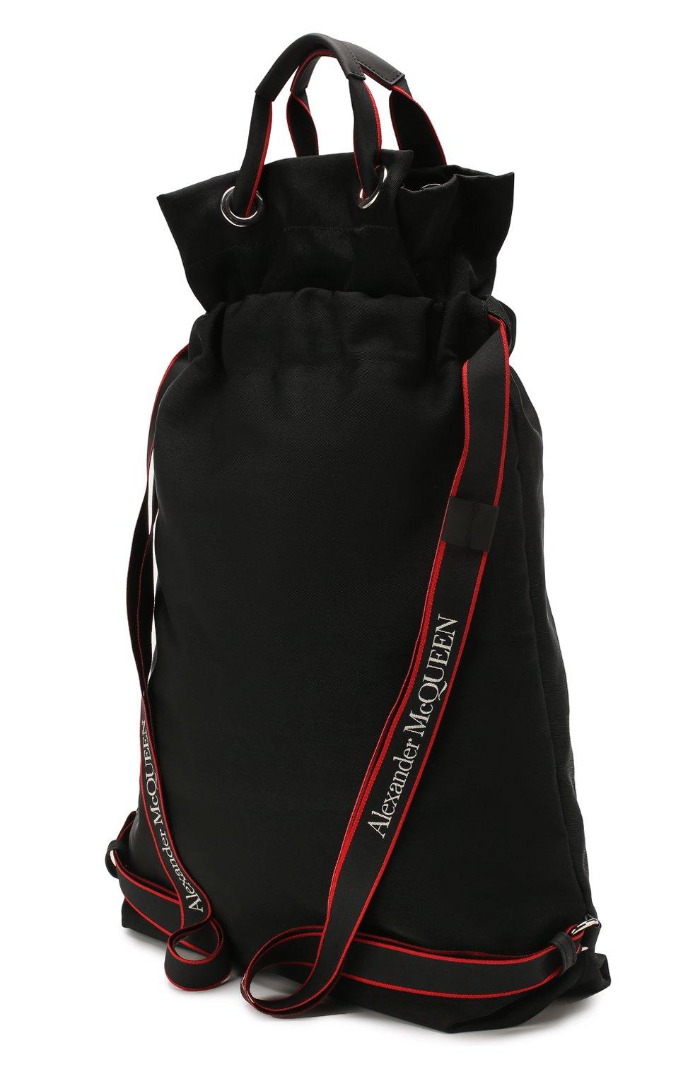Мужской текстильный рюкзак ALEXANDER MCQUEEN черного цвета, арт. 610673/HUP6N   Фото 3
