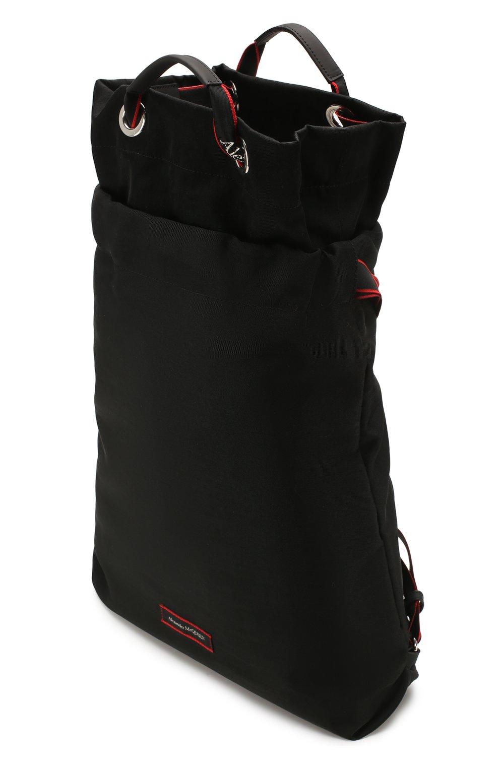 Мужской текстильный рюкзак ALEXANDER MCQUEEN черного цвета, арт. 610673/HUP6N   Фото 4