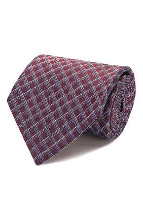 Мужской шелковый галстук BRIONI бордового цвета, арт. 062H00/P9430 | Фото 1